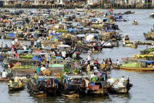 chợ nổi cà mau đất mũi cà mau đặc trưng vùng sông nước
